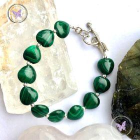 Malachite Hearts Healing Bracelet